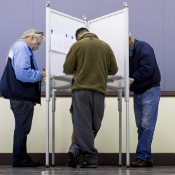 Portland voters fill out ballots Nov. 3 at Merrill Auditorium. The goal of a public finance scheme like Maine's is to elect representatives who are accountable only to constituents. Leadership PACs undermine that. 2015 Press Herald File Photo/Ben McCanna