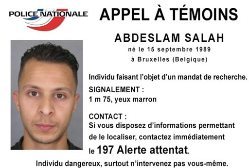 This undated file photo released by French police shows 26-year-old Salah Abdeslam, who is wanted by police in connection with Friday's terror attacks in Paris. Police Nationale via AP