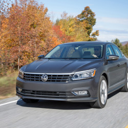 The 2016 Volkswagen Passat has a few styling updates, including a newly chromed four-bar grille and slimmer headlights. (Volkswagen)