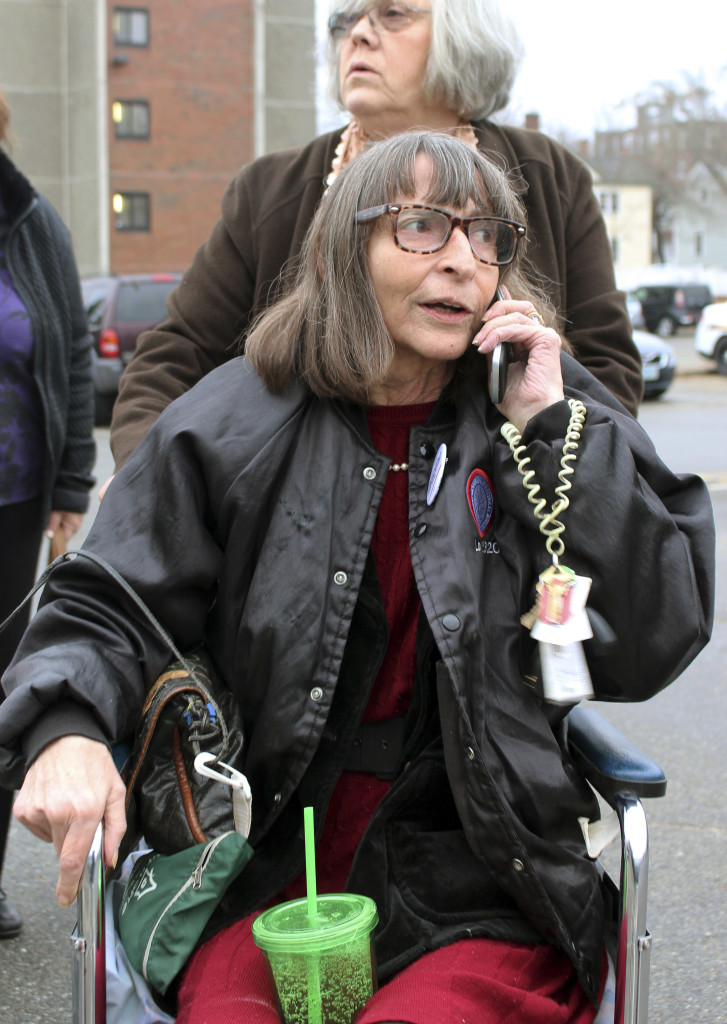 Linda Horan, a New Hampshire resident,  went to court to allow her to buy medical marijuana in Maine.  The Associated Press