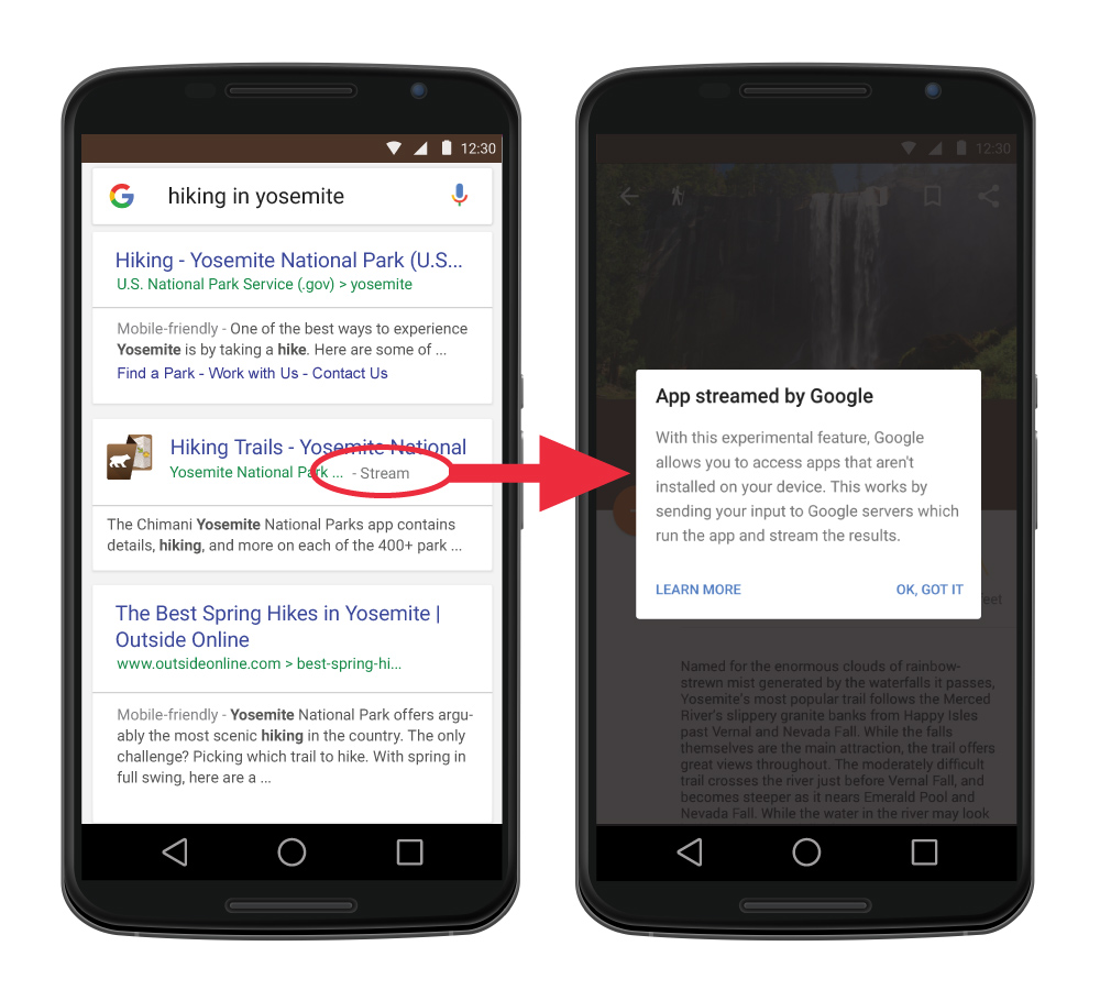 How Chimani's mobile app will show up in Google search results