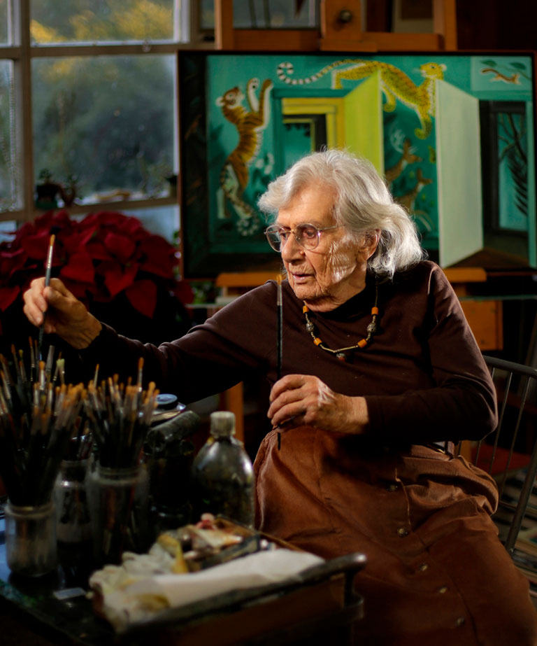Dahlav Ipcar, 96, photographed in her Georgetown studio. Gabe Souza / Staff Photographer