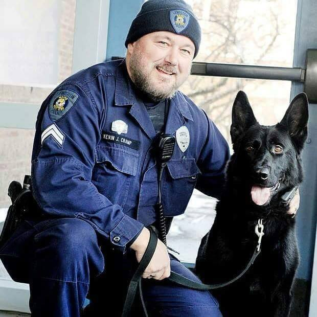K-9 officer Chico with partner Corporal Kevin Cramp.