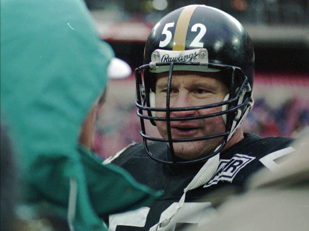 Mike Webster, shown in 1988, was one of the NFL's best offensive linemen with Pittsburgh, a future Hall of Famer. But a brain injury eventually led him to commit suicide at age 50. The Associated Press