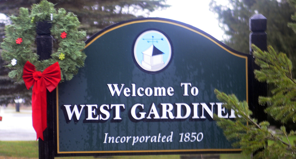 The welcome sign at the border with Gardiner is still standing, but town officials say three others have been stolen.