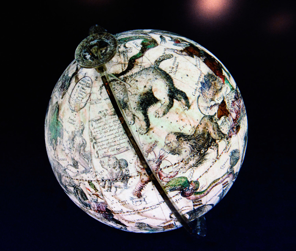 One of David Neikirk's digital images of a 1607 William Blaeu celestial globe.