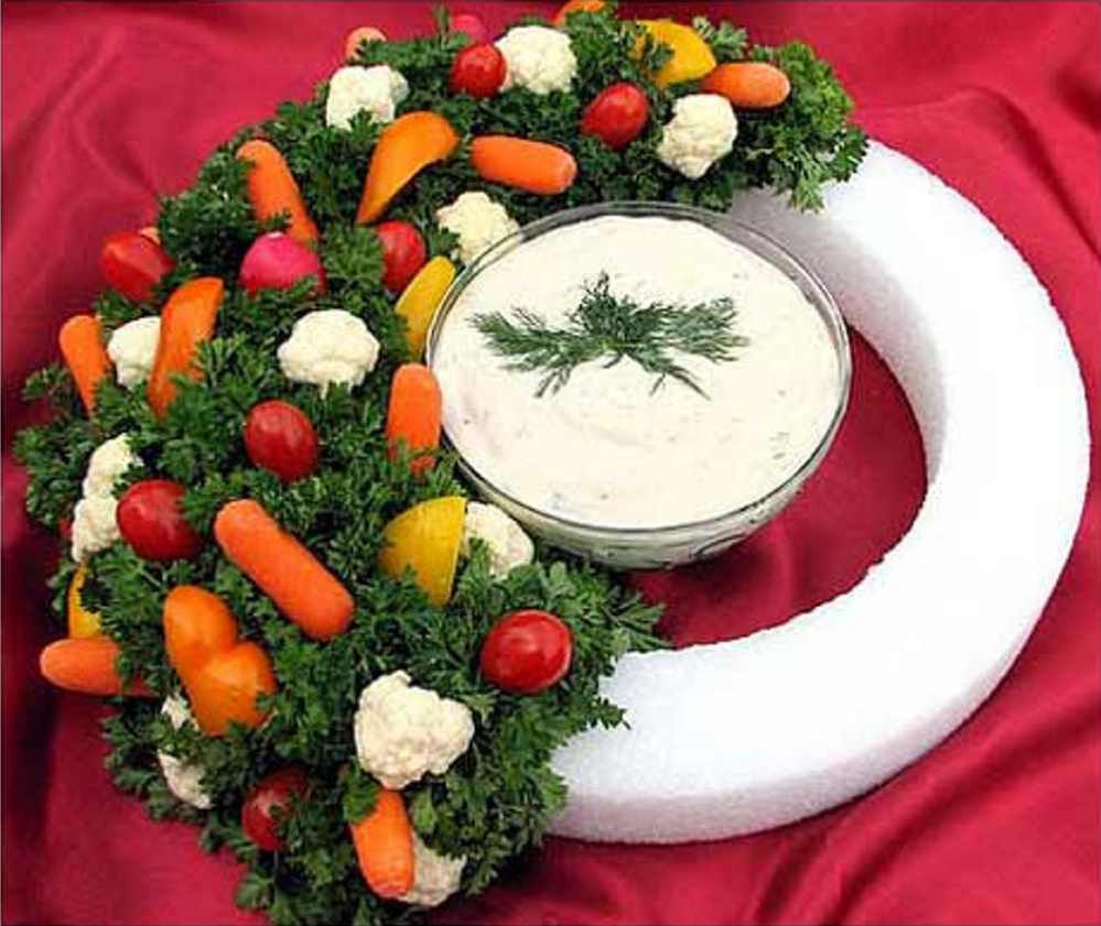 Turn a veggie platter into a decorative treat with this idea from chef Cheryl Farley.