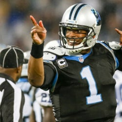 "Quarterback Cam Newton says the Carolina Panthers (11-0) – even with a powder-puff upcoming schedule – aren't looking to a possible undefeated season. ""Our main focus … is to become 12-0 first."""
