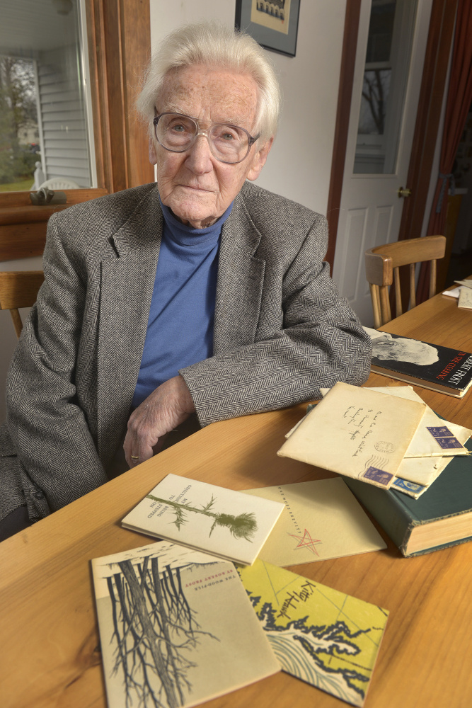Baird Whitlock of Belfast received holiday poems from his friend Robert Frost for a dozen years beginning in the early 1950s. John Ewing/Staff Photographer