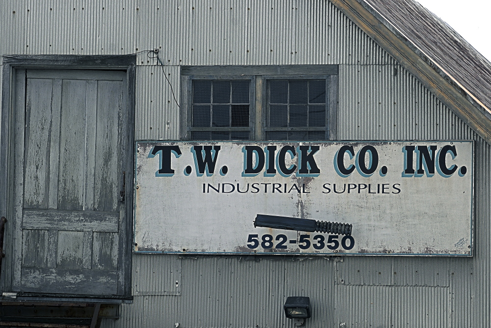 The site of the former T.W. Dick Co. Inc. in Gardiner will be redeveloped.
