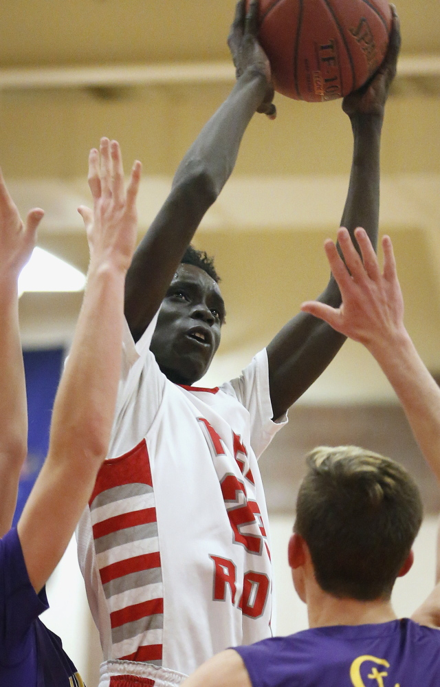 At 6-foot-4, Ruay Bol can play guard or forward and is one of many big players in South Portland.