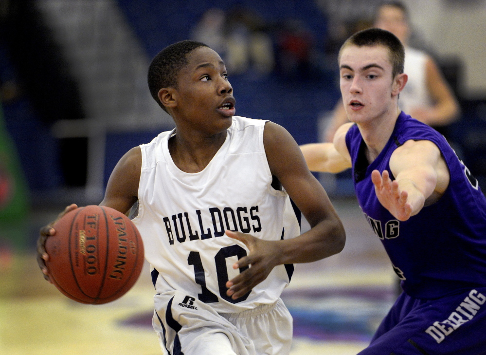 Portland's Terion Moss made his mark as a freshman point guard and helped the Bulldogs win Western Class A.