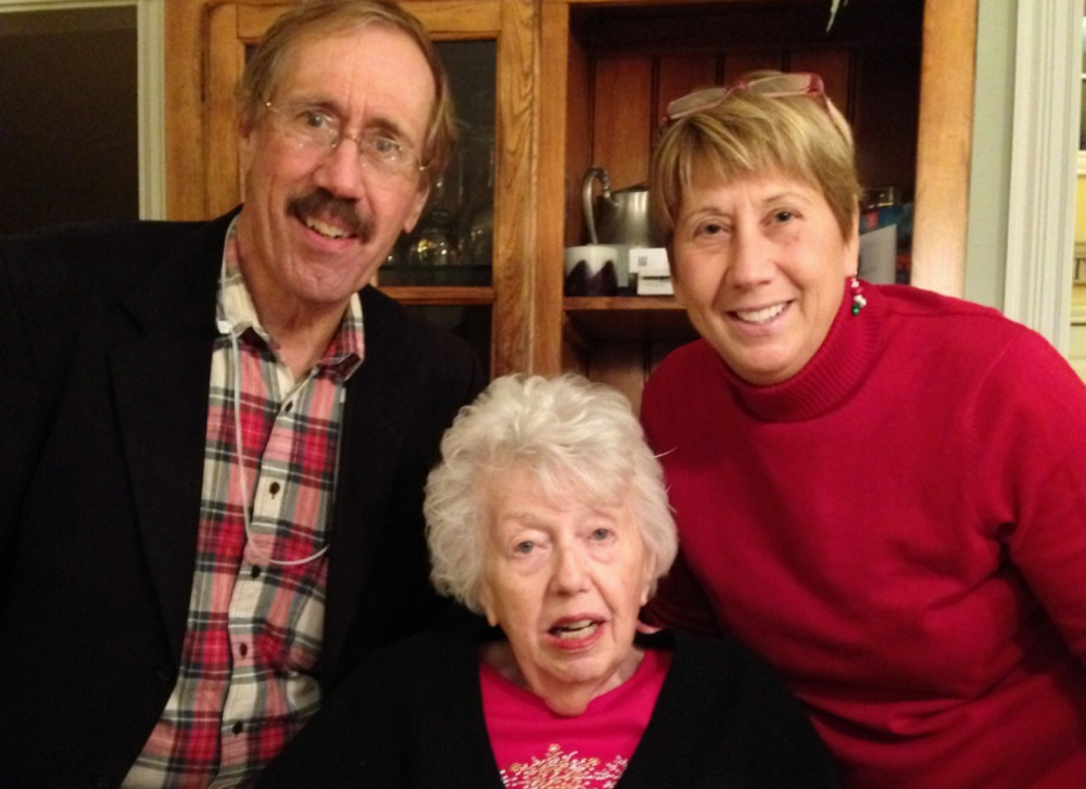 Charlene Strang with her son J. Peter Strang and daughter Meredith Strang Burgess.
