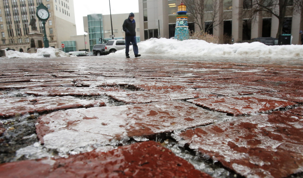 Portland should replace its brick sidewalks with something that's not treacherous to tread on during winter weather, a reader says.