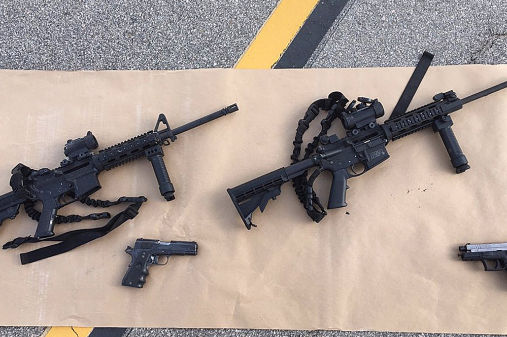 Tasheen and Syed Farook had nearly identical AR-15s in their arsenal of weapons used to kill 14 people Wednesday.