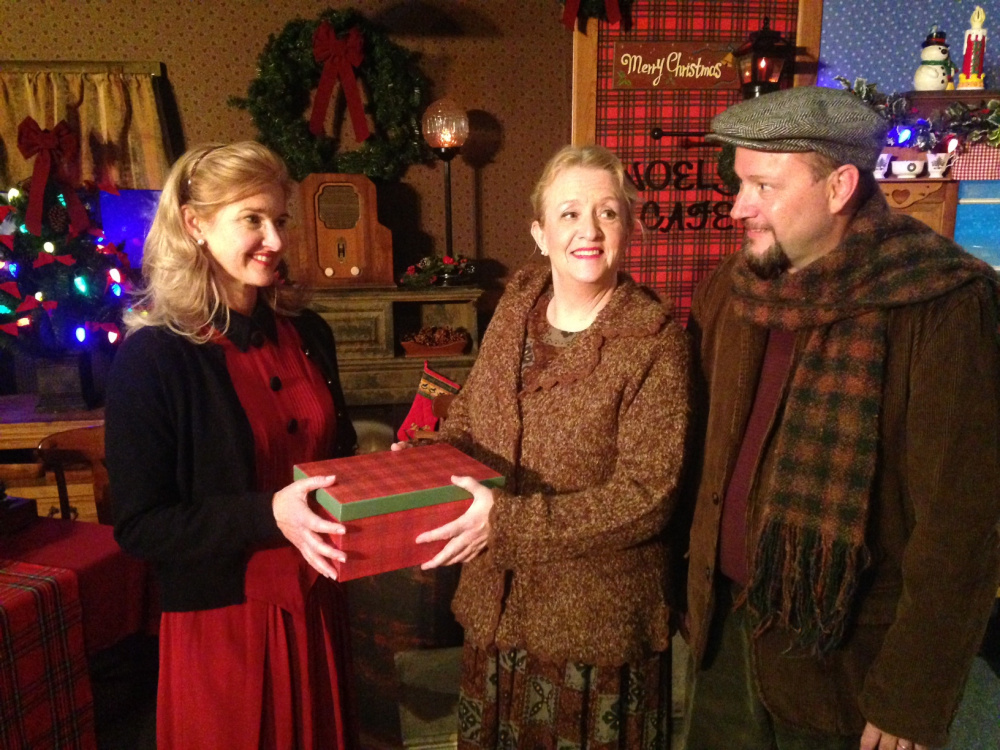 "Opera singer Maura Gwyer and Maine favorites Nancy Durgin and Mark Calkins star in ""The Gifts of Christmas: A Maine Musical."""