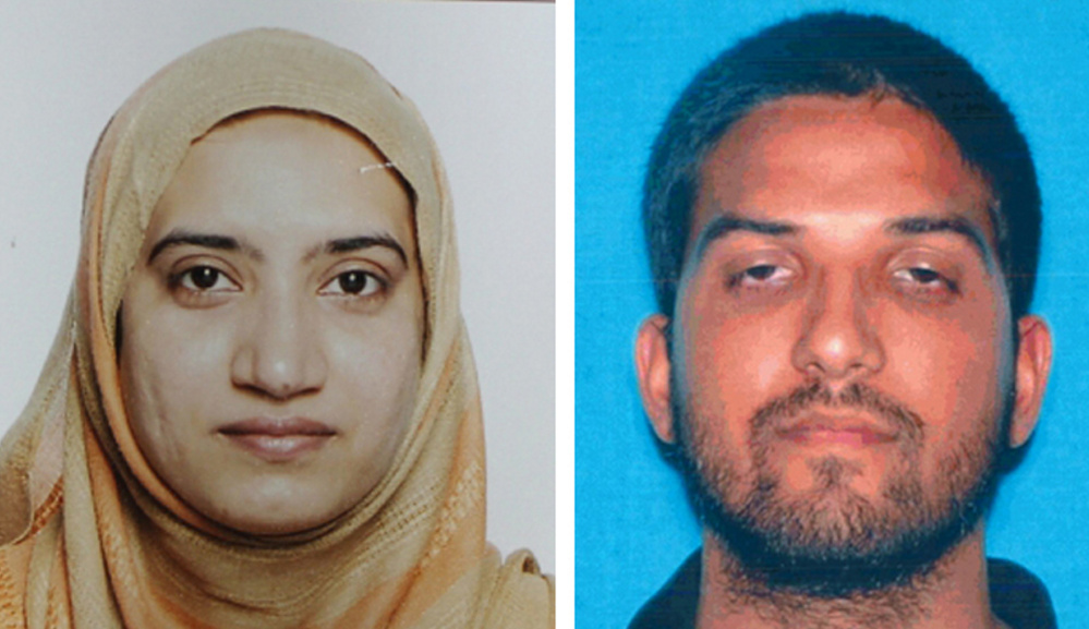 Tashfeen Malik and Syed Rizwan Farook died in a gun battle with authorities in San Bernardino, Calif.