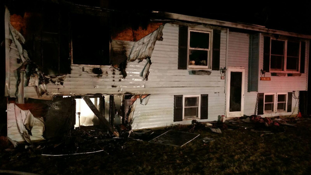 A fire was reported around 9 p.m. Sunday at the ranch-style house at 81 Bluff Circle in New Gloucester. One person died and the home is a complete loss.