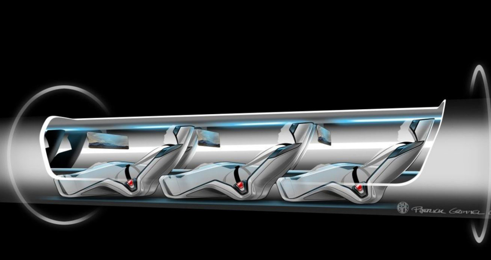 Hyperloop Technologies plans to move people and packages at 335 mph as it tests its transportation system. (SpaceX via AP, file)