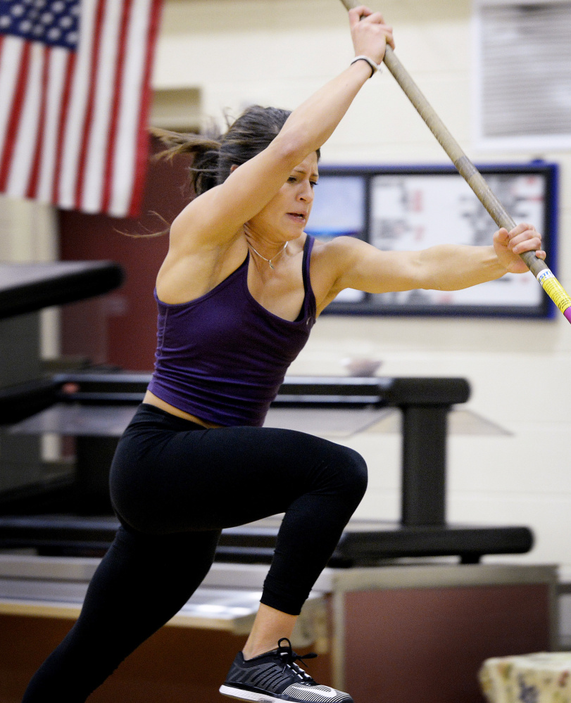 Alyssa Coyne of Greely has had much success as a thrower and vaulter in her high school career. She is a three-time state champ in the events and always has a mission to improve.