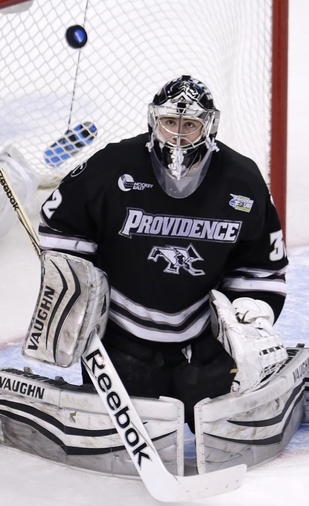 South Portland native Jon Gillies led Providence College to the NCAA championship in April. In his first year of professional hockey, he had season-ending hip surgery Wednesday.