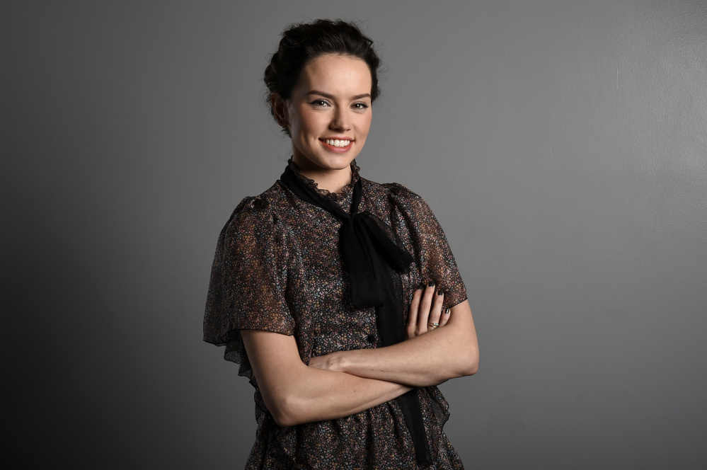"""Actress Daisy Ridley stars as Rey in the J.J. Abrams directed """"Star Wars: The Force Awakens."""" The Associated Press"""