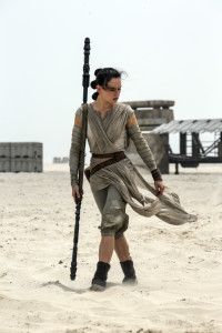 "The Associated Press Daisy Ridley as Rey in a scene from the film, ""Star Wars: The Force Awakens,"" directed by J.J. Abrams. The movie opens in U.S. theaters on Dec. 18."