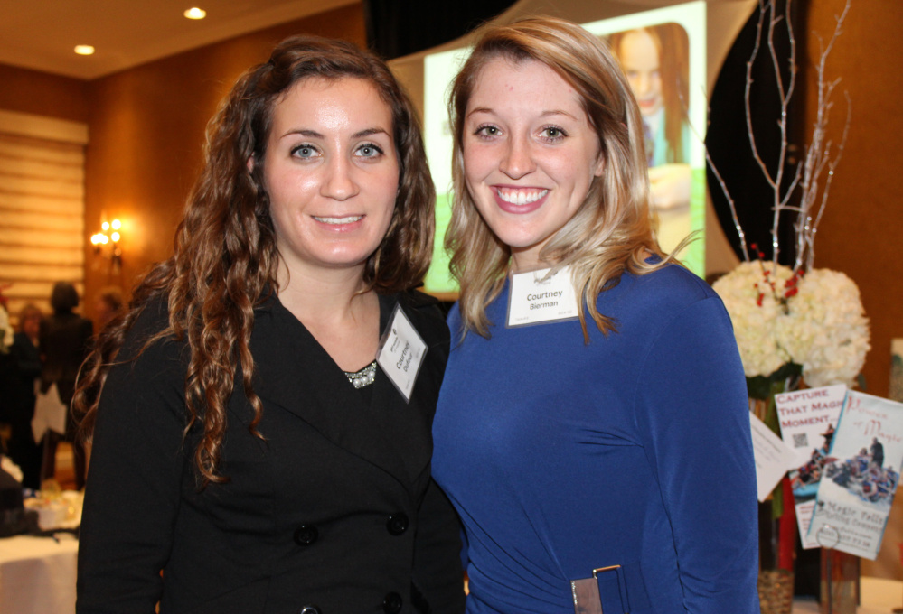 Courtney Dufour, left, and Courtney Bierman of Cianbro, one of the event sponsors.