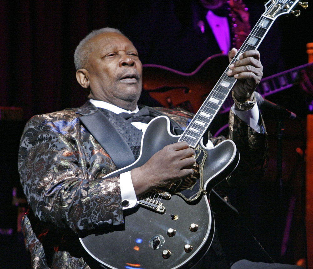 B.B. King plays at his club in New York. King, who died peacefully at his Las Vegas home in May at age 89, will be honored with a memorial garden around his grave outside a museum dedicated to his life.