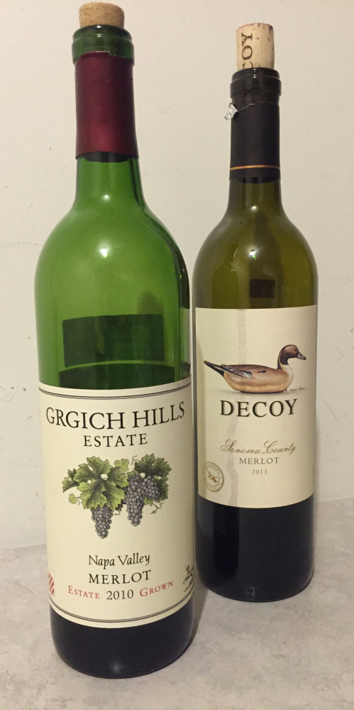 High-quality merlots from California, including Grgich Hills' and Decoy's, can be enjoyed while they are still young.