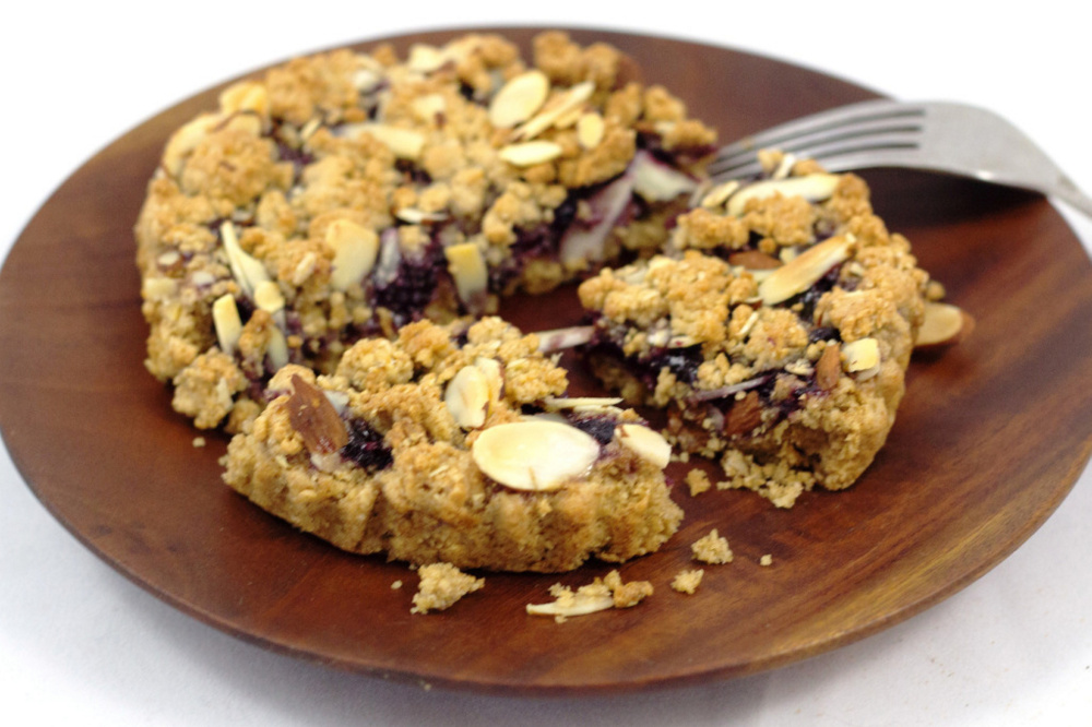 Wild blueberry is the most popular flavor of O.A.T. Crumb Tarts.
