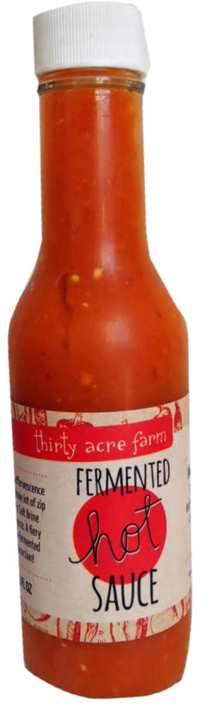 A fermented hot sauce from Thirty Acre Farm has a garlicky kick.