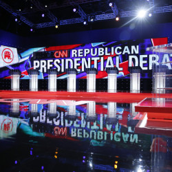 The stage is set for Tuesday night's CNN Republican presidential debate at the Venetian Hotel & Casino in Las Vegas.