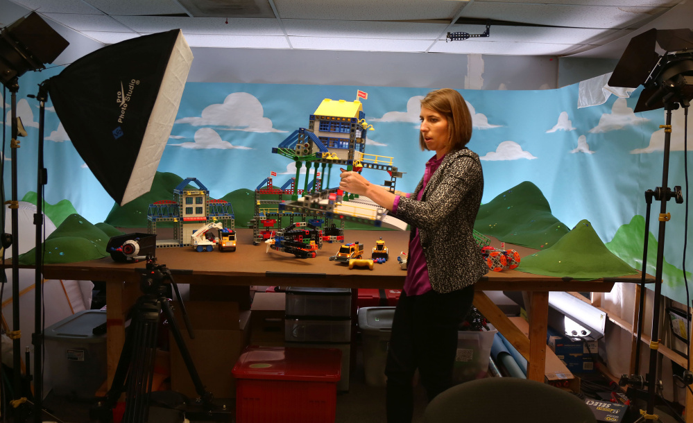 Caitlin Bigelow, marketing director at Rokenbok, directs and scripts the San Diego toy brand's YouTube videos.