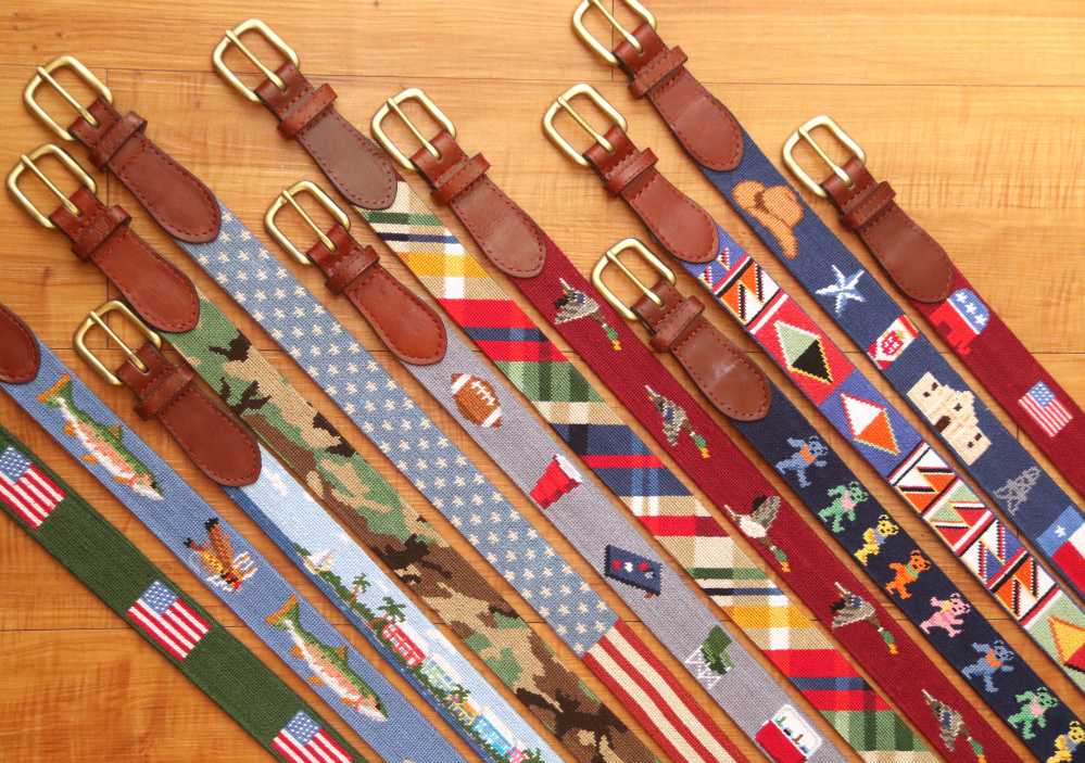 Belts from the fall 2015 collection of the accessories company Smathers & Branson.