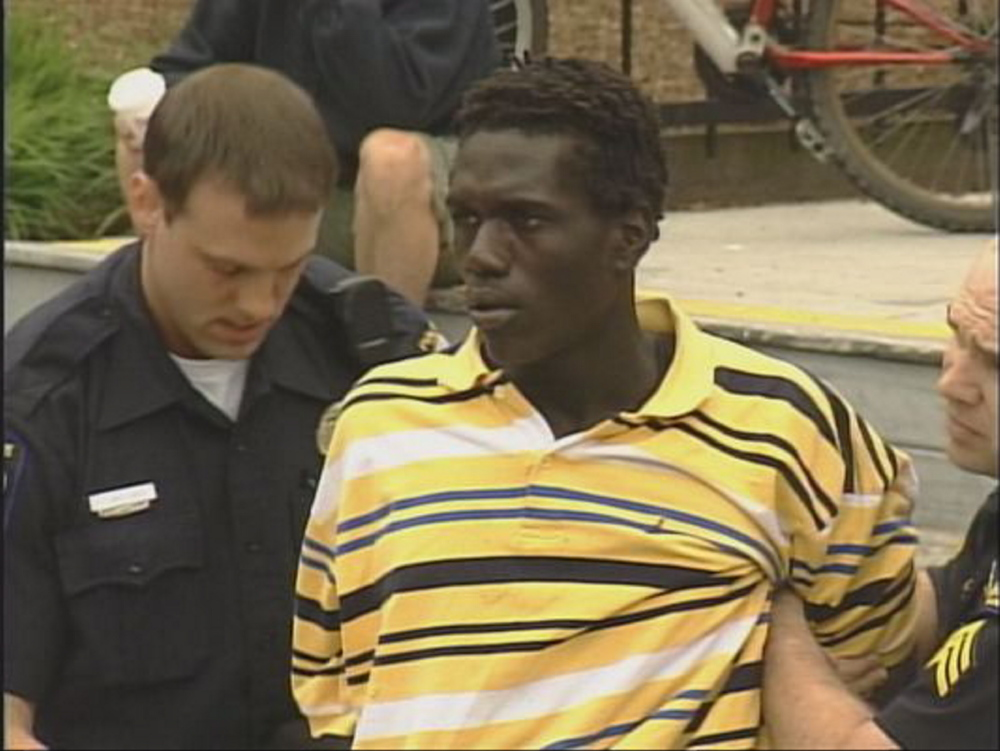 Jimmy Odong of Portland  robbed a Freeport bank in July. 2009 photo courtesy of WCSH