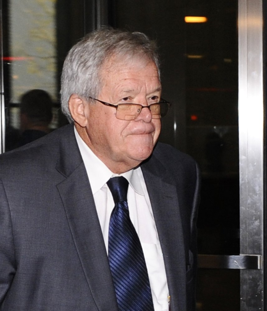 Dennis Hastert is awaiting sentencing in a hush-money case.