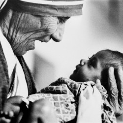 Mother Teresa, seen in 1978 as she cradles a baby at one of her Missionaries of Charity orphanages in India, won the Nobel Peace Prize in 1979. Revered as an advocate for the poorest of the poor, Mother Teresa died in 1997 and will likely be canonized in September.