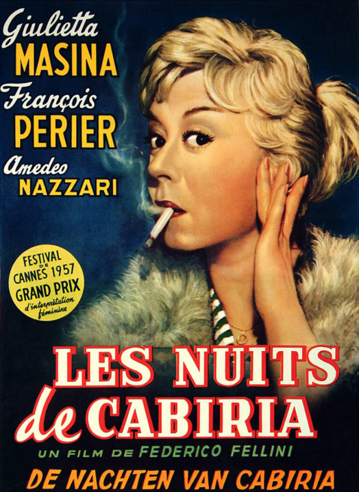 "The movie poster from ""The Nights of Cabiria."""
