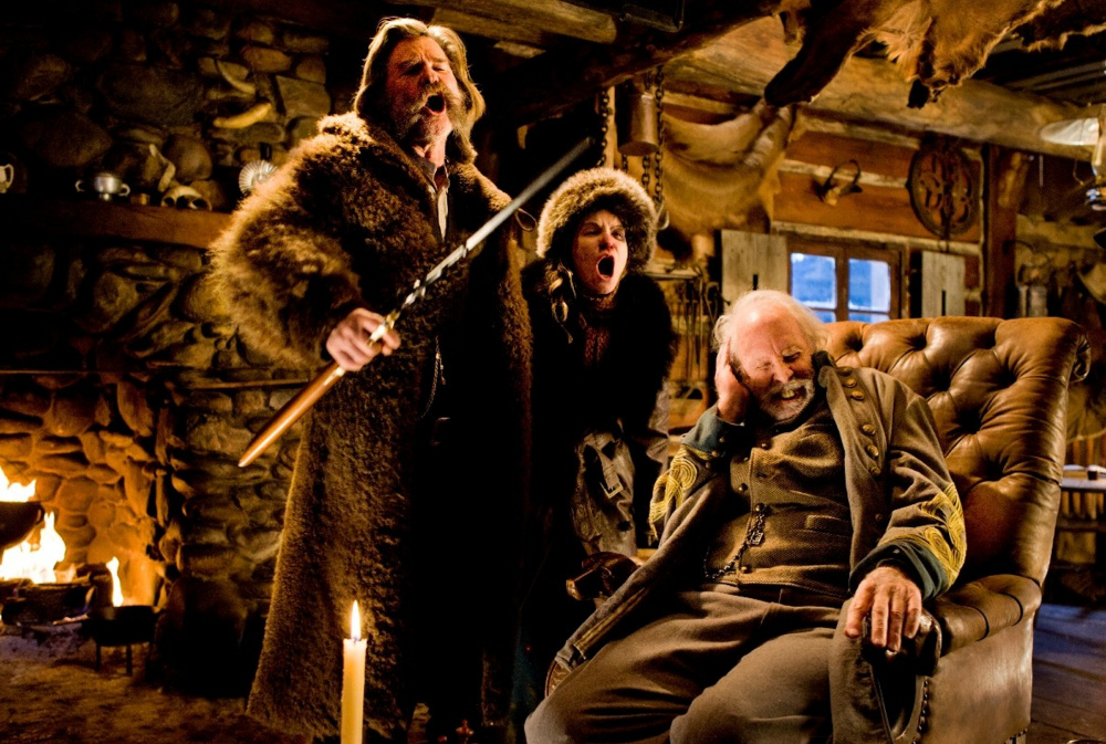 "Kurt Russell, Jennifer Jason Leigh and Bruce Dern star in The Weinstein Co.'s ""The Hateful Eight."""