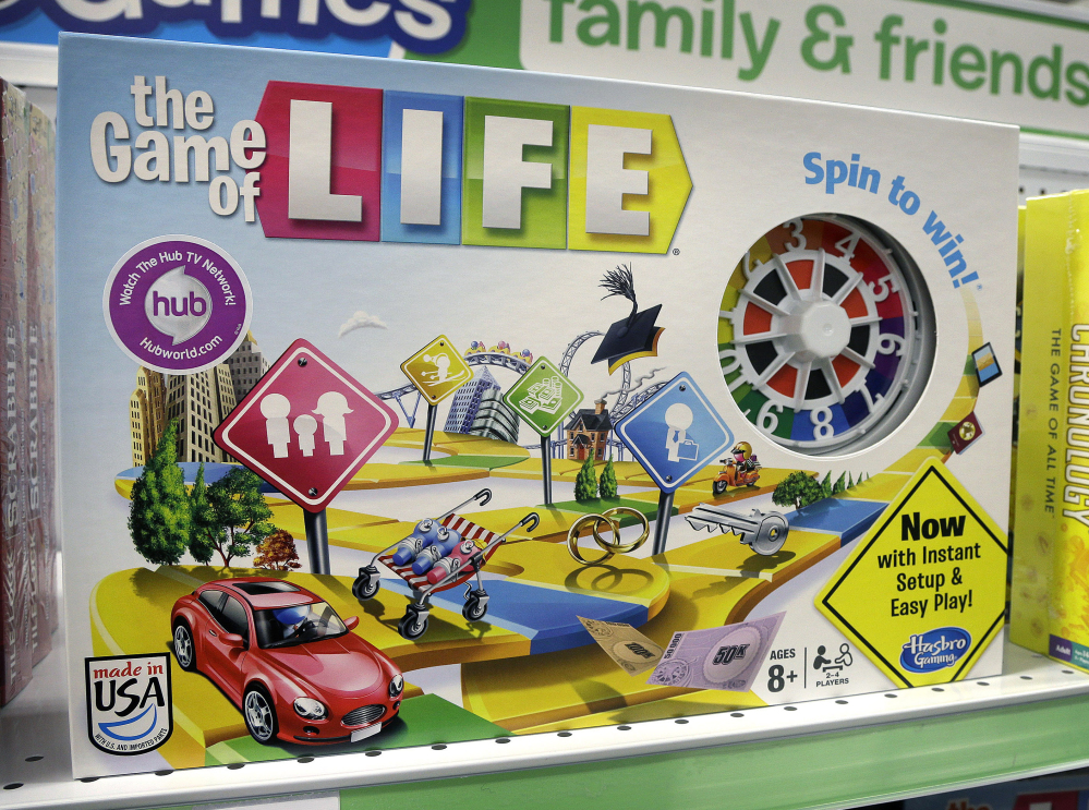 The Hasbro board game The Game of Life is the subject of a lawsuit and countersuit over rights and royalties. Thirty million copies of the game have been sold.