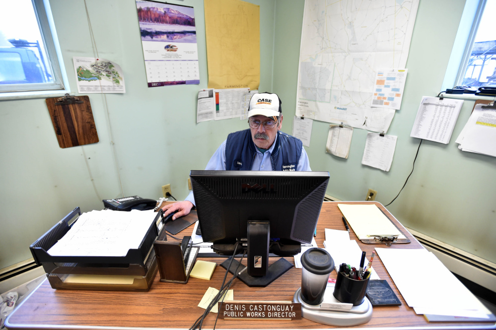 Denis Castonguay, director at the Farmington Public Works Department, will spend a few more months on the job.  Michael G. Seamans/Morning Sentinel