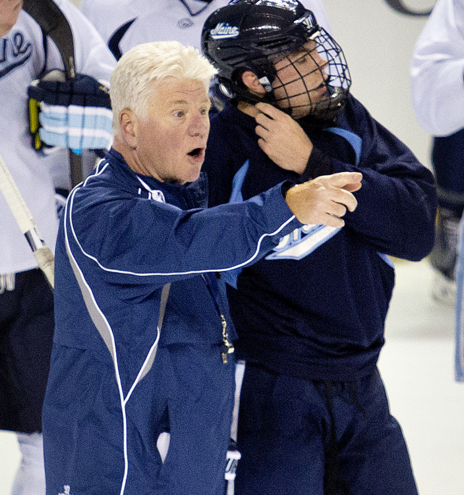UMaine Coach Red Gendron is preaching patience with his team, and he likes the way the Black Bears finished the first half of the season with a 4-1-1 record.