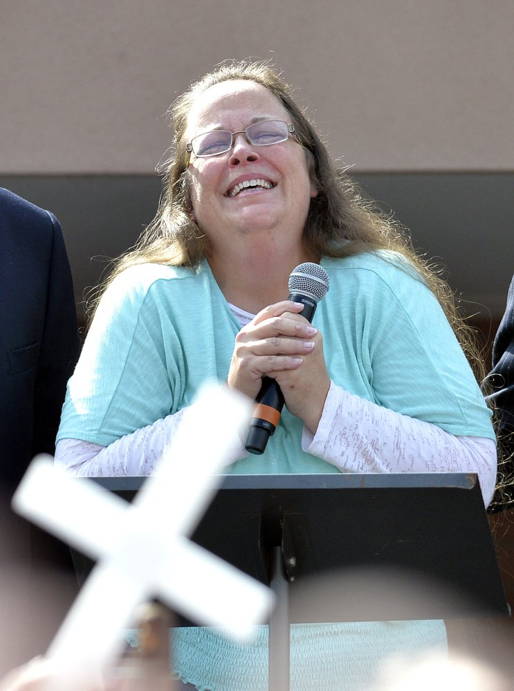 "Rowan County Clerk Kim Davis doesn't regret spending much of the year at the center of one of the nation's biggest social changes in decades, and says her actions in opposition to gay marriage have ""awakened"" Christians across the country."