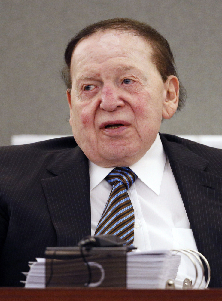Billionaire casino mogul Sheldon Adelson and his family are the new owners of Nevada's largest papernewspaper, the Las Vegas Review-Journal. Las Vegas Sands Corp. Chairman and CEO Sheldon Adelson bought the Las Vegas Review-Journal. The family of billionaire casino mogul Adelson confirmed in a statement to the Las Vegas Review-Journal that they are the new owners of Nevada's largest newspaper, ending a week of speculation and demands by staff and politicians to know the identity of the new boss. (AP Photo/John Locher, File)