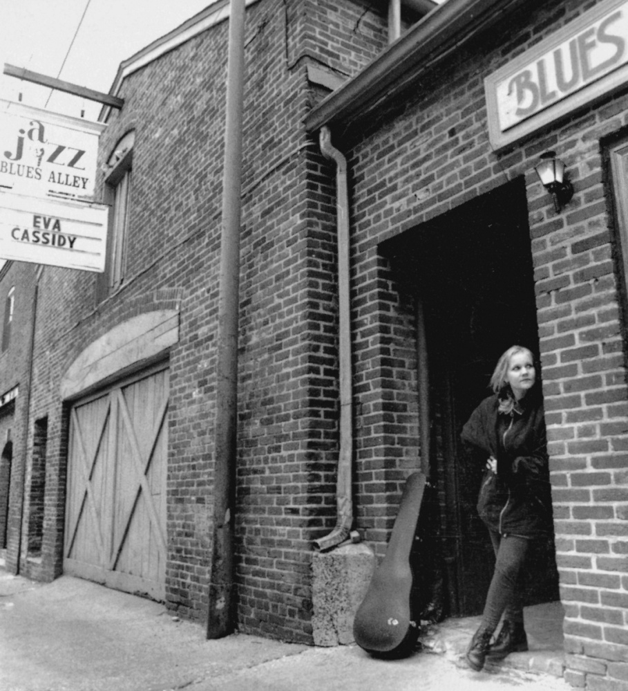 Eva Cassidy at Blues Alley in Washington in January 1996, 10 months before her death.