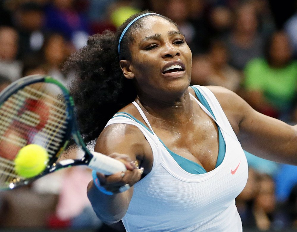 Serena Williams was chosen as The Associated Press Female Athlete of the Year for the fourth time on Friday, coming close to winning all four majors in th year.