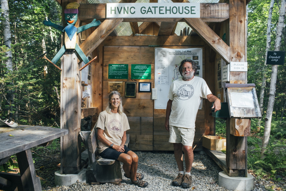 Bambi Jones, left, and her husband, Tracy Moskovitz, spent years buying parcels of land, which evolved into the Hidden Valley Nature Center.
