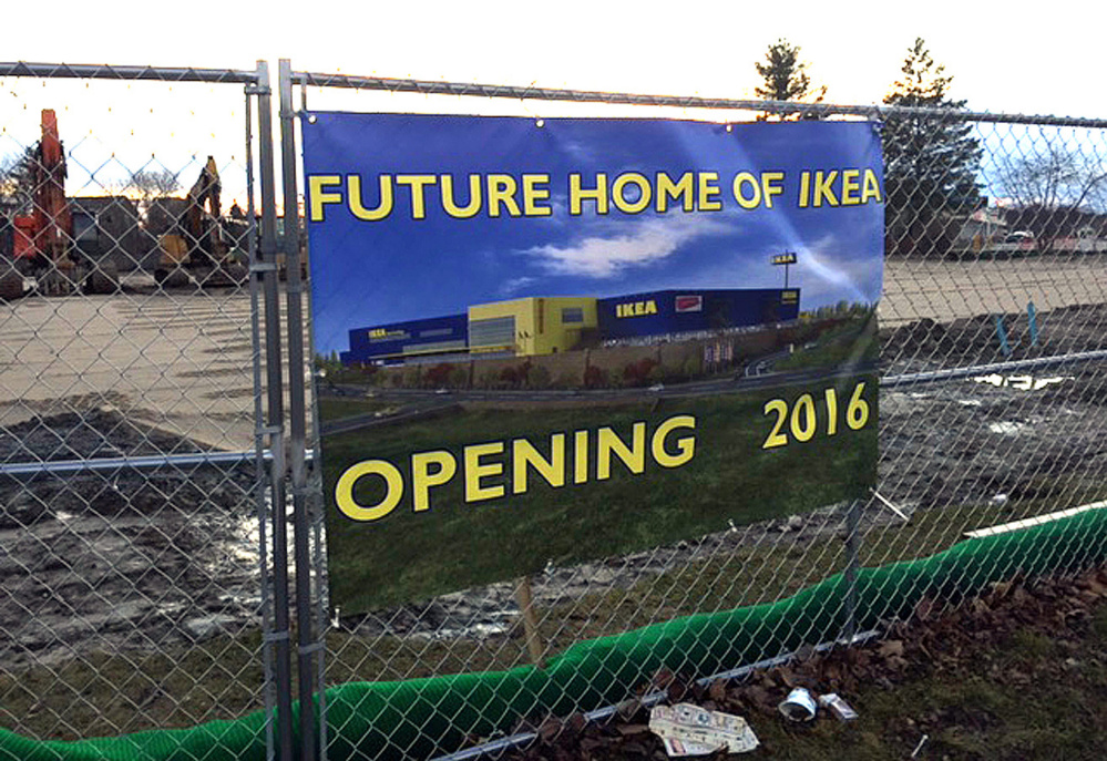 It Is Still A Mystery Who Placed This Sign Announcing The Opening Of An Ikea