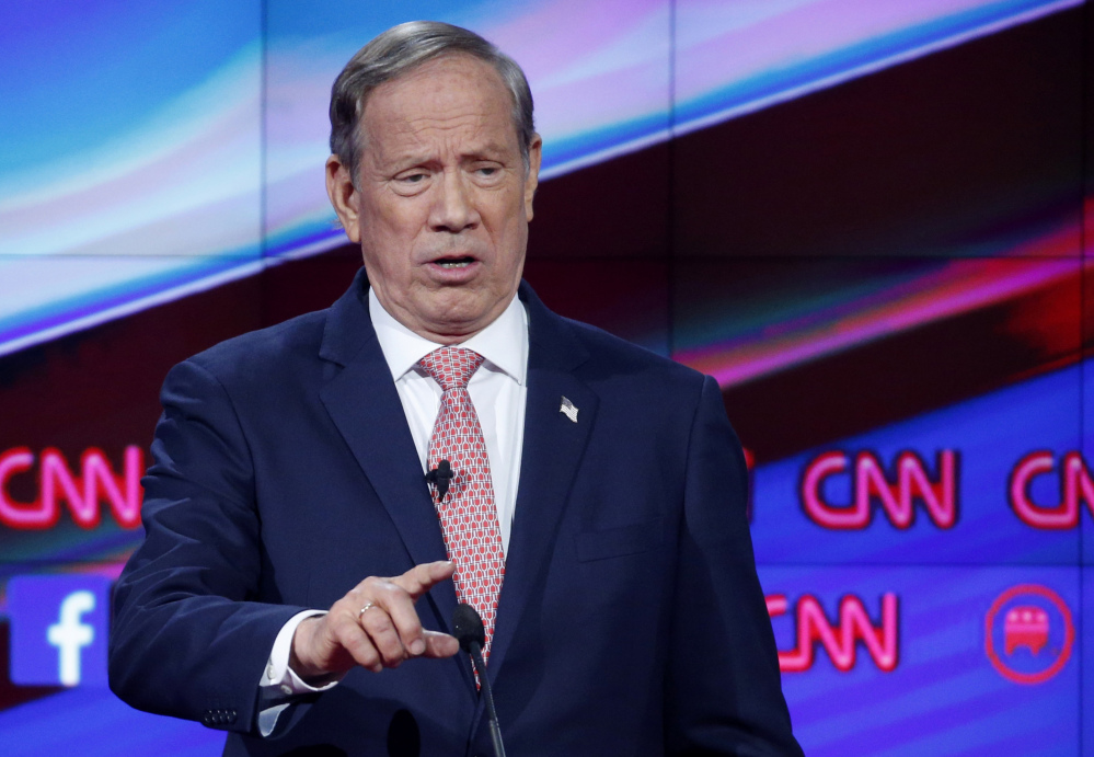 George Pataki, who appeared in the undercard Republican presidential debate Dec. 15 in Las Vegas, ended his bid for the Republican presidential nomination.